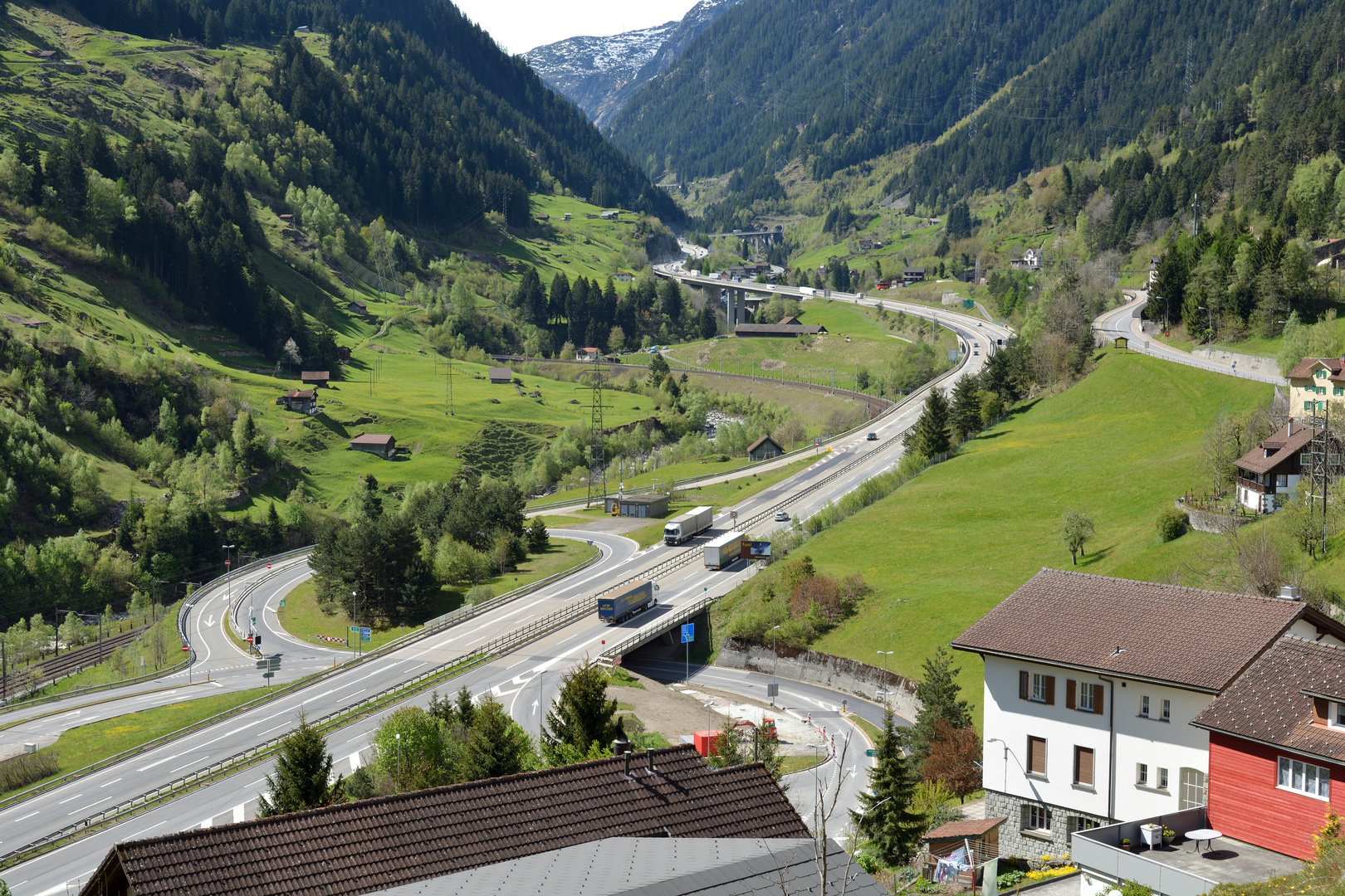 Gotthardroute über die Alpen nach Süden