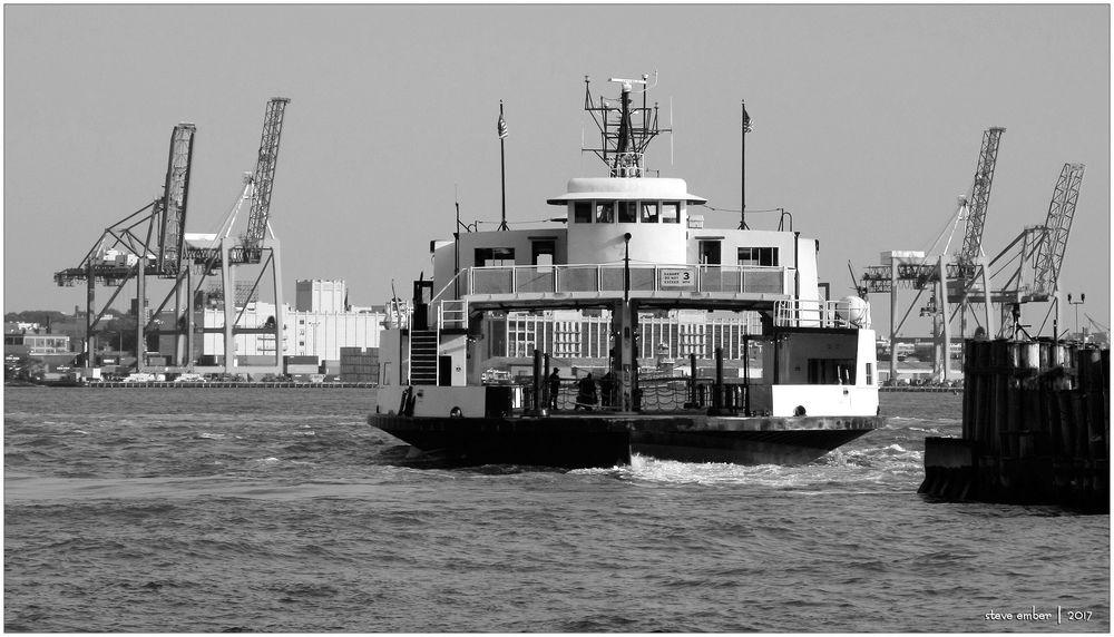 Governor's Island Ferry Terminal In Manhattan. Stock Photo ...