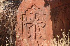 Grabstein in Thalin Armenien