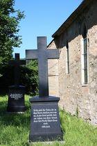Grabsteine der Familie Ziegesar auf dem Drackendorfer Friedhof