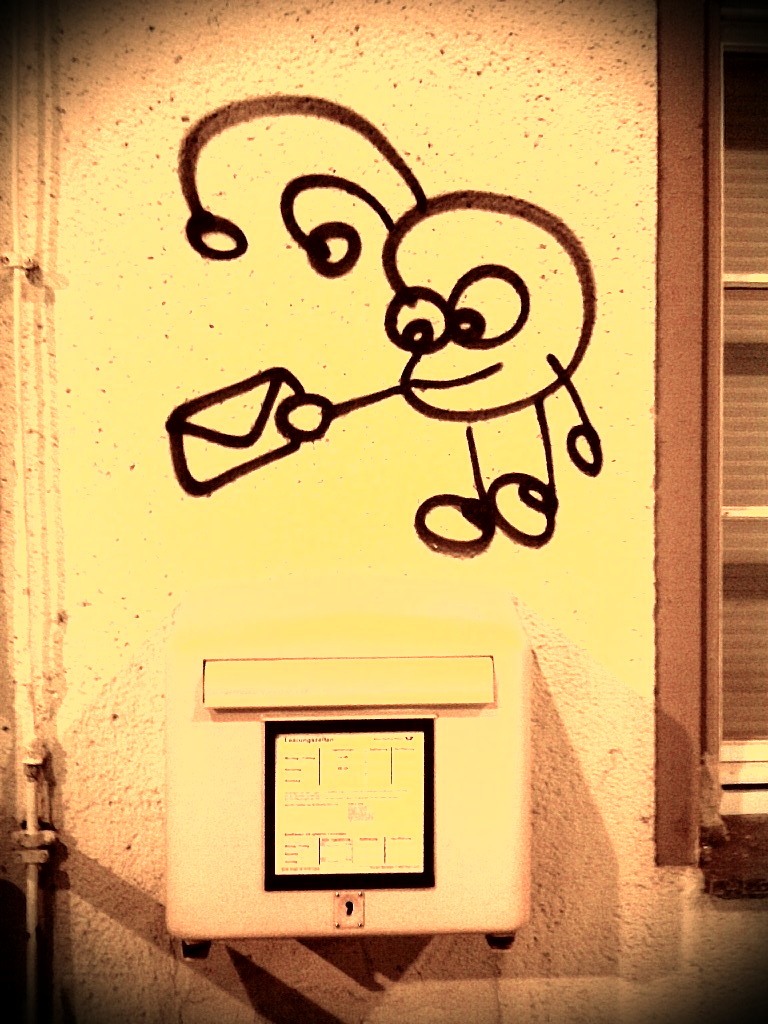 Graffiti am Bad Lausicker Bahnhof