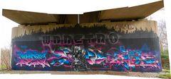 Graffiti an der Hammer Eisenbahnbrücke