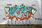 Graffiti an der Scaterbahn in Rostock-Dierkow