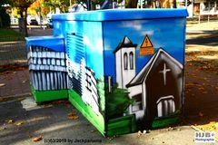 Graffiti an einer Straße in Gladbeck