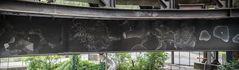 Graffiti auf dem Gelände Weltkulturerbe Völklinger Hütte