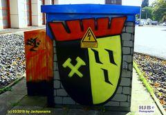Graffiti auf Stromkästen