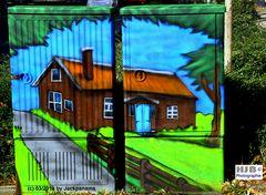 Graffiti auf Stromkasten (Vorderseite) 1