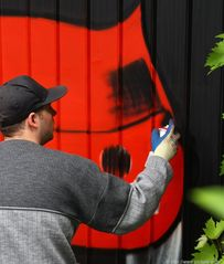 Graffiti, hier mal Kunst und kein Ärgernis