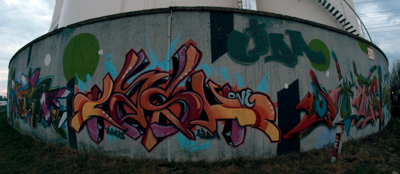 Graffiti im Düsseldorfer Hafen