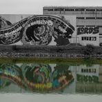 Graffiti im Spiegel