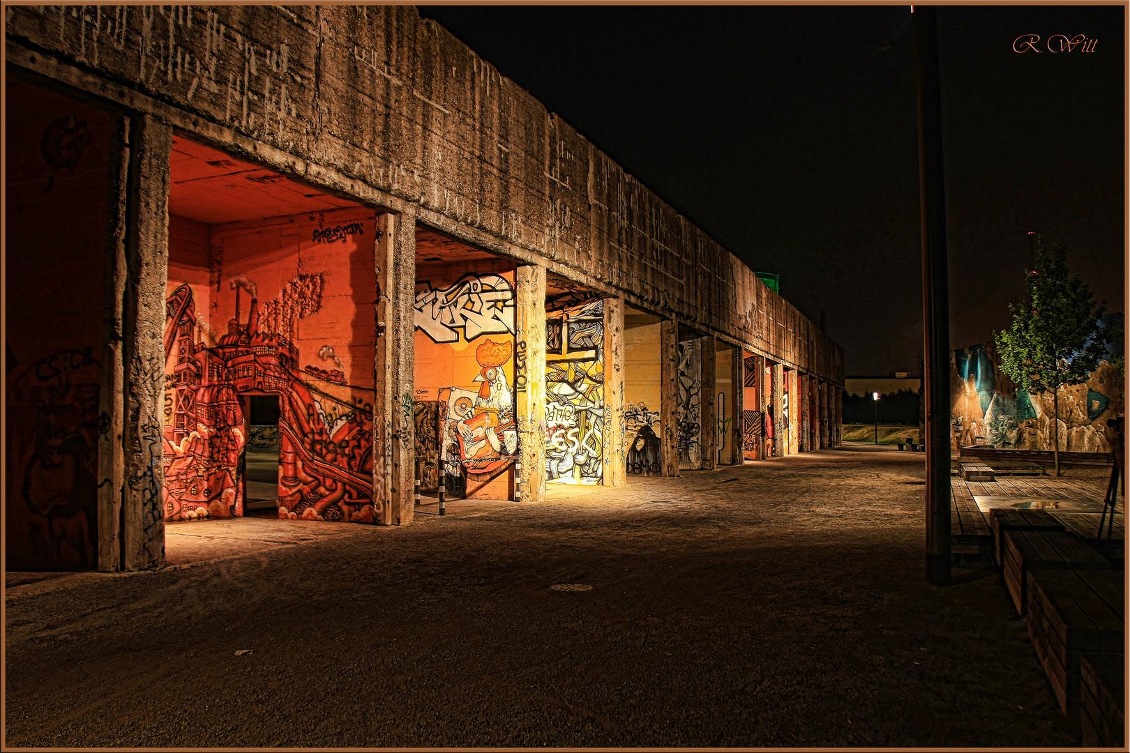 Graffiti Kunst im Rheinpark Duisburg