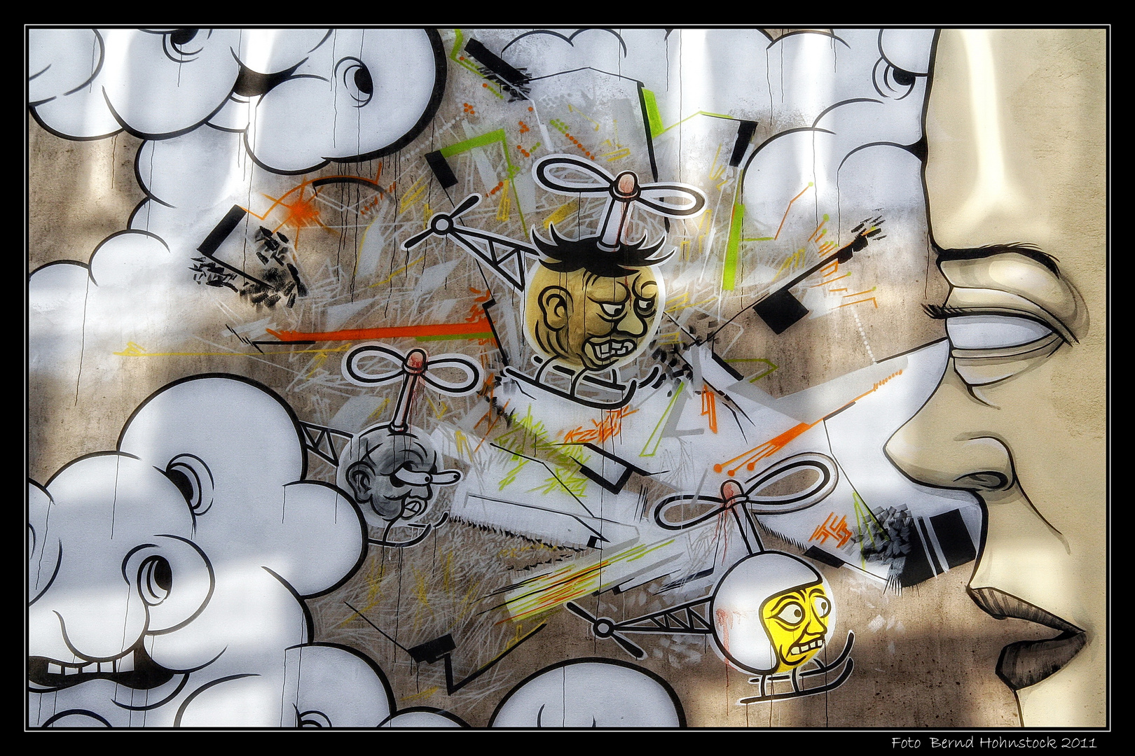 Graffiti Kunst Köln im Veedel ....