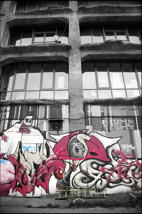 Graffiti on Black and White