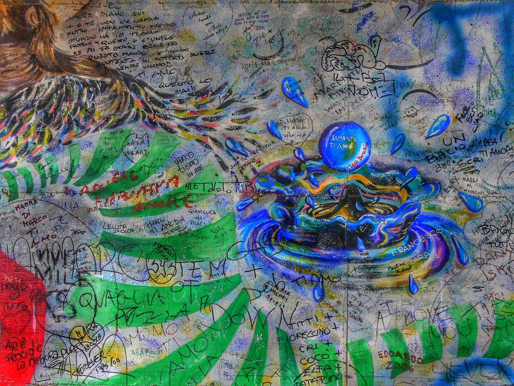 Graffiti sur la Via dell 'Amore