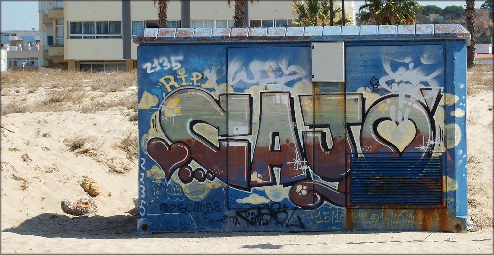 Graffiti vicino al mare