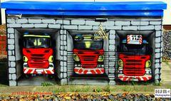 Graffiti vor der Feuerwache auf einem Stromkasten 3