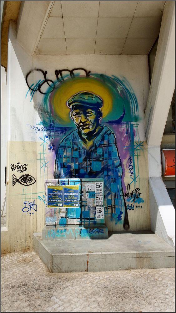 Graffiti...Il vecchio pescatore.