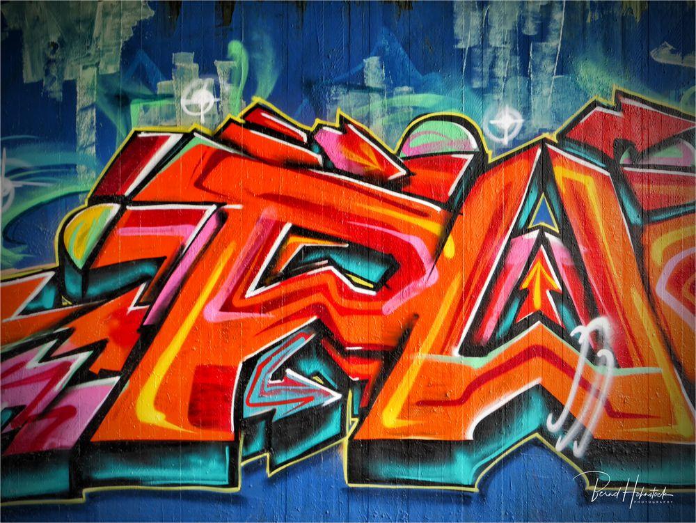 Graffito einer Kleinstadt