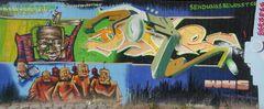 Graffitti near Neuss-Rheinparkcenter