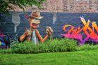 Graffitty auf der grünen Wiese