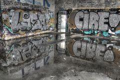 Graffity in der alten Papierfabrik Düsseldorf