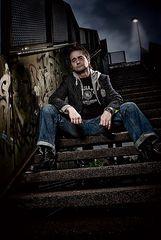 grafiti an der treppe