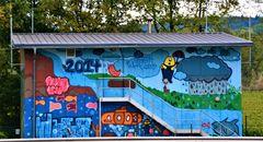 Grafitti Haus bei Trier