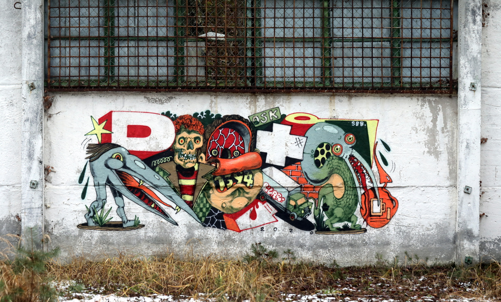 Grafitti Kunst an verlassenen Orten