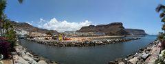 Gran Canaria, Puerto de Mogan am Strand