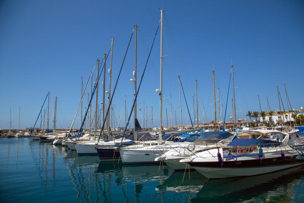 Gran Canaria, Puerto de Mogan im Hafen
