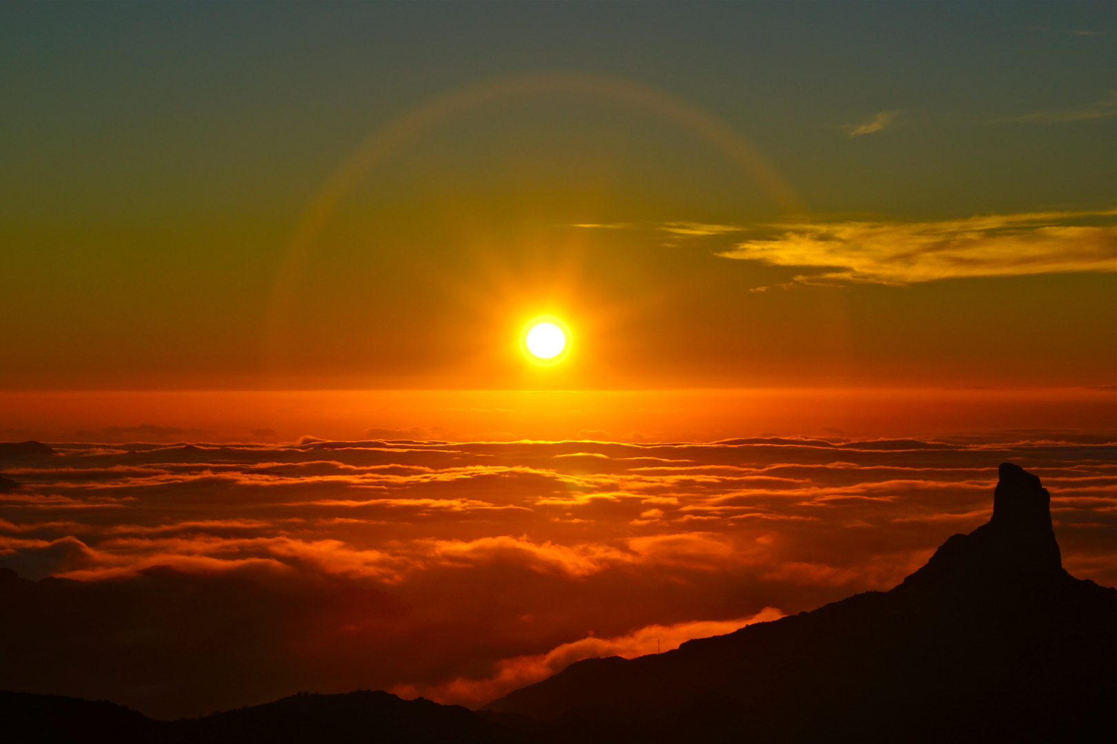 Gran Canaria - Sonnenuntergang über Tejeda