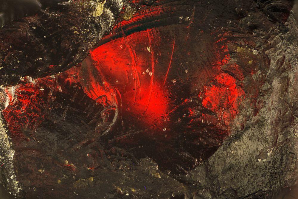 Granat im Durchlicht