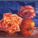 Granatapfel trifft Rosen