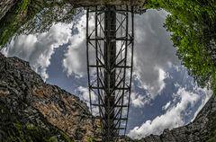 Grand Canyon du Verdon - die Brücke von unten
