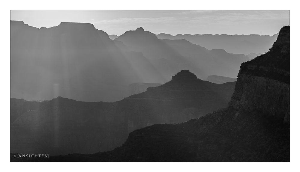 [grand canyon I sunrise BW]