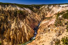 Grand Canyon of the Yellowstone, Inspiration Point, Wyoming, USA