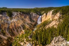 Grand Canyon of the Yellowstone, Lower Falls, Wyoming, USA