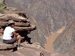 Grand Canyon, Plateau Point, Blick auf den Colorado