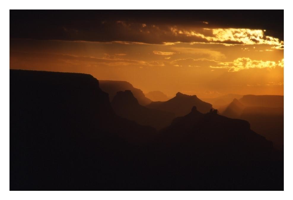 Grand Canyon zwischen Regen und Gewitter