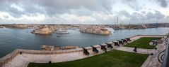 Grand Harbour Panorama mit Saluting Battery