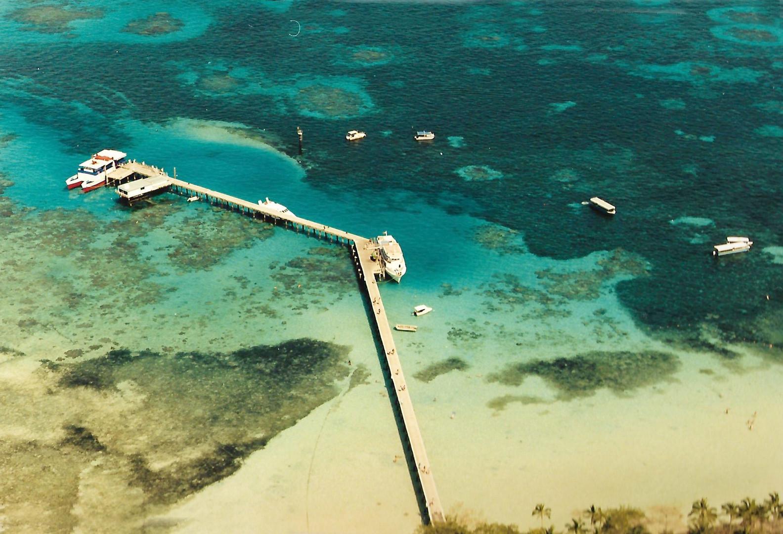grande barrière de corail vue d'hélico