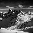 Grandes Jorasses (4208 m) & Dent du Geant (4013 m)
