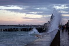 Grandes marées à St Malo ....