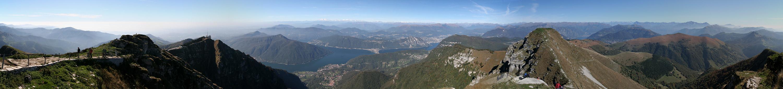 Grandioso Monte Generoso (fast 360 Grad)