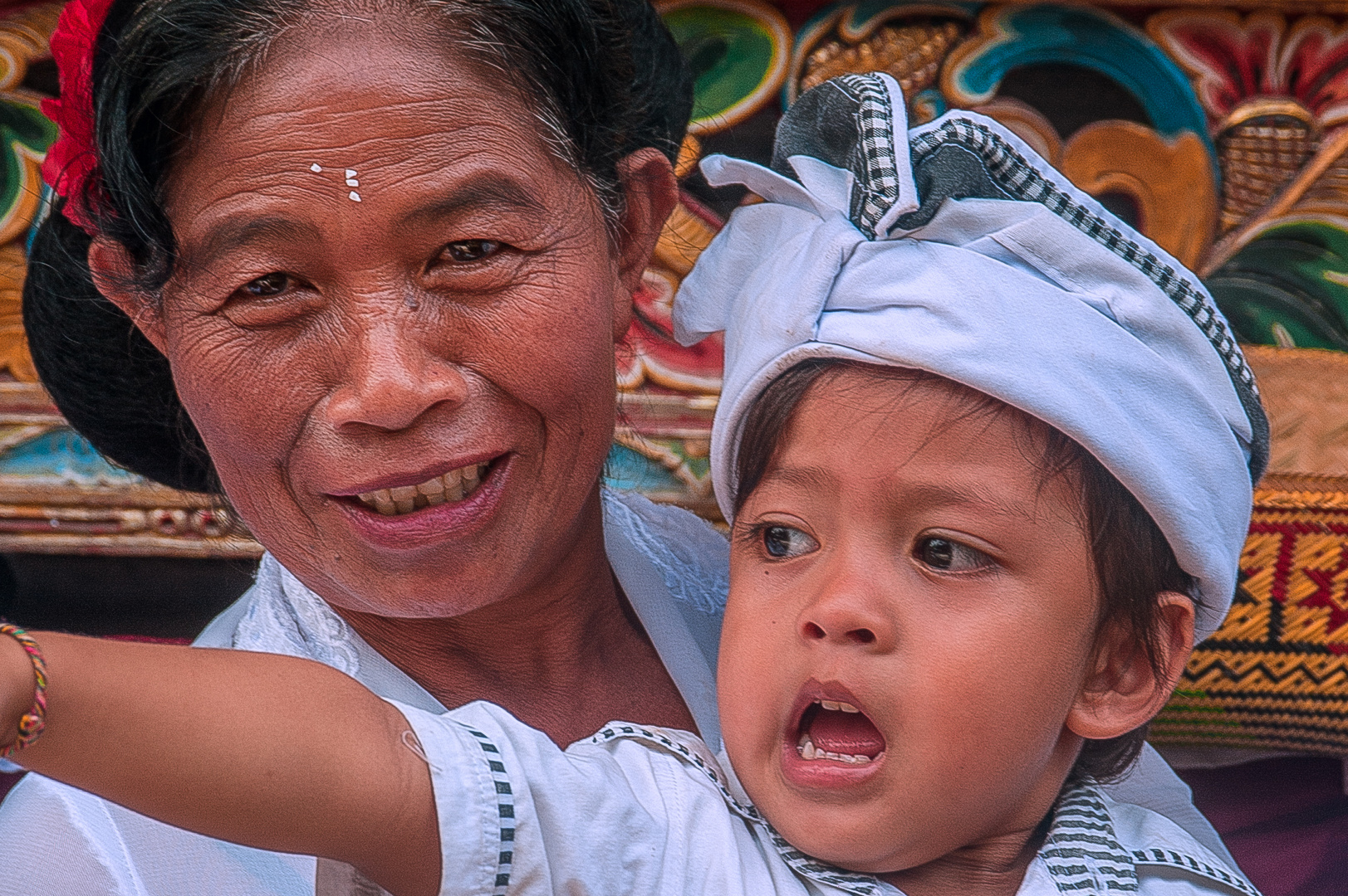 Grandma and her grandson