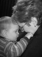 grandmother and her grandson