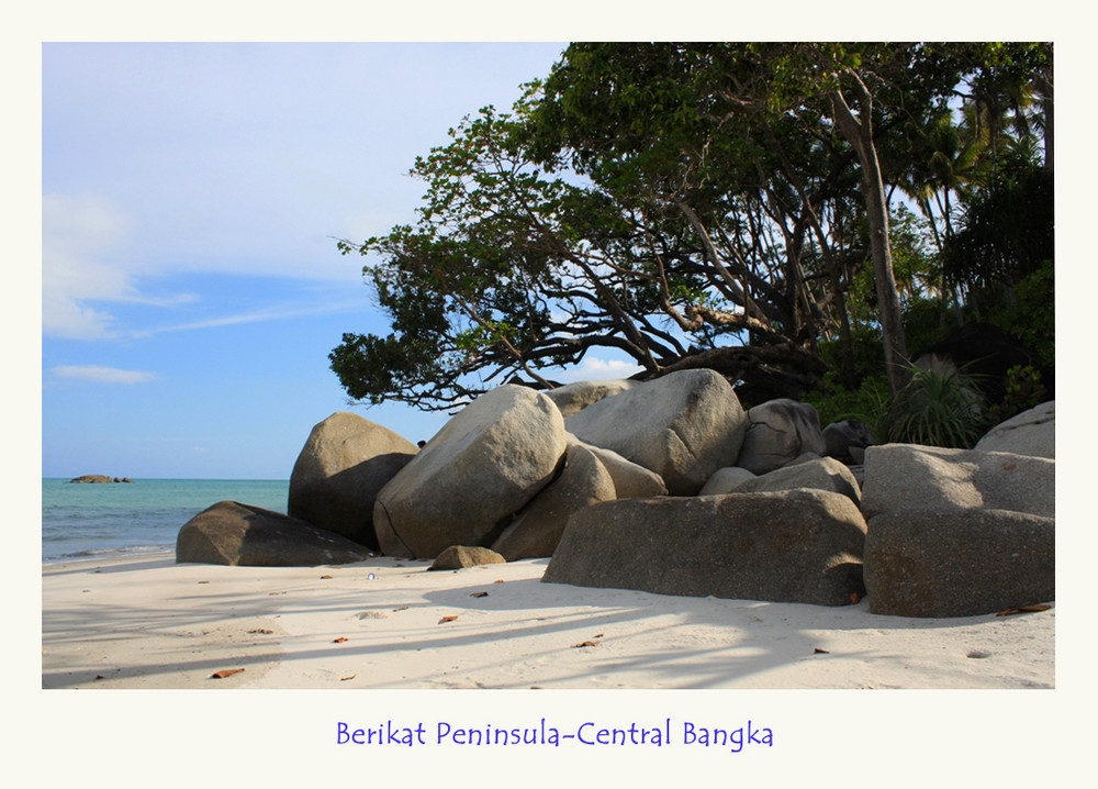 Granite sandy beach