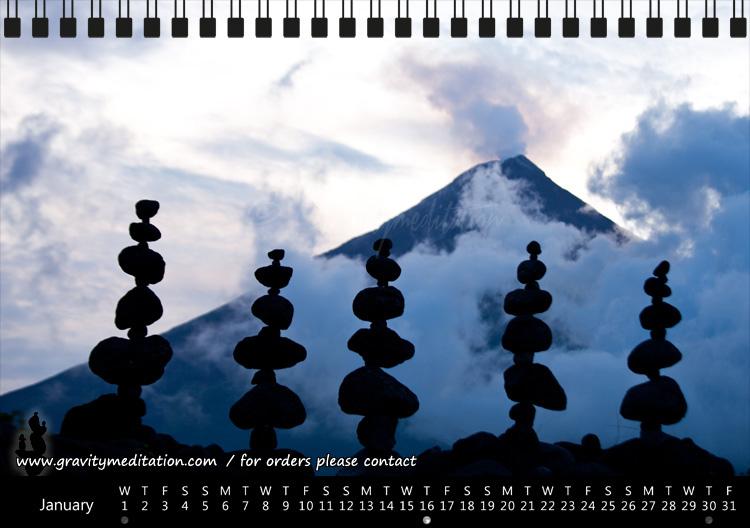 Gravity Meditation 2o14 Calendar / Monat Januar
