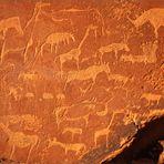 Gravuren bei Twyfelfontein in Namibia