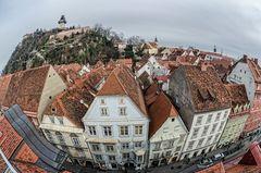 Graz - Blick auf den Schlossberg
